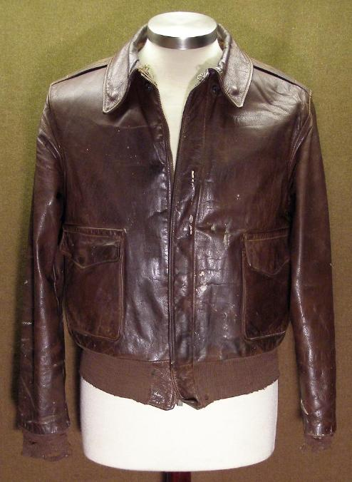 U.S. Army Air Force Poughkeepsie Leather Coat Co Type A-2 Jacket a4d096249cac