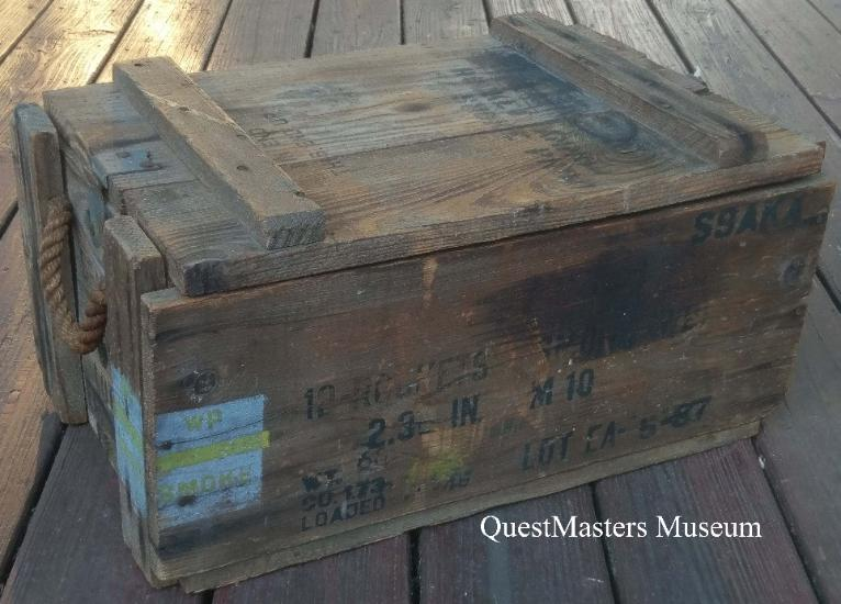 german ww rifle grenade wooden crate